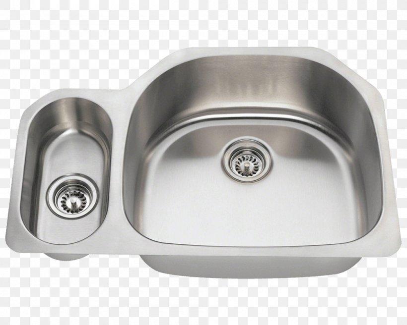 Kitchen Sink Stainless Steel Kitchen Sink, PNG, 1000x800px, Sink, Bathroom, Bathroom Sink, Bowl, Brushed Metal Download Free