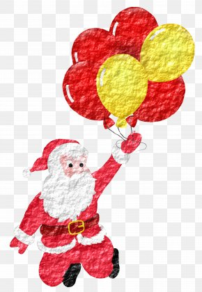 Santa Claus Color Balloon Material Free To Pull - Santa Claus Balloon Drawing Illustration PNG