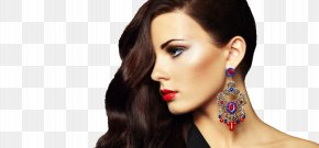 Beauty Salon - Earring Beauty Parlour Hairstyle Cosmetics Spa PNG