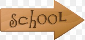 Sign To School Material Free To Pull - School Gratis PNG