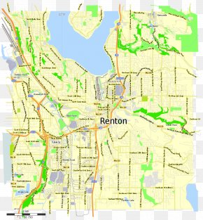 Vector Map - Renton Vector Map PNG