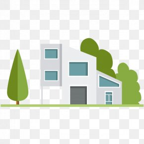 Vector Painted Gray House - House Building Clip Art PNG