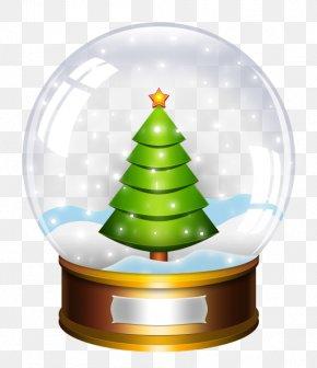Glass Ball Christmas Wish - Christmas Snow Globes Clip Art PNG