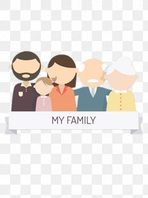 Five Family Labels - Family Grandparent Child Illustration PNG