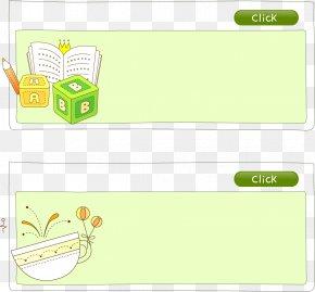 Book Pencil Vector Elements - Paper Green Cartoon Pattern PNG