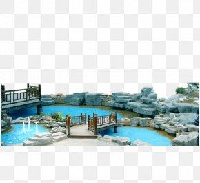Park Small Lake Bridge - Park Garden Lake Google Images PNG
