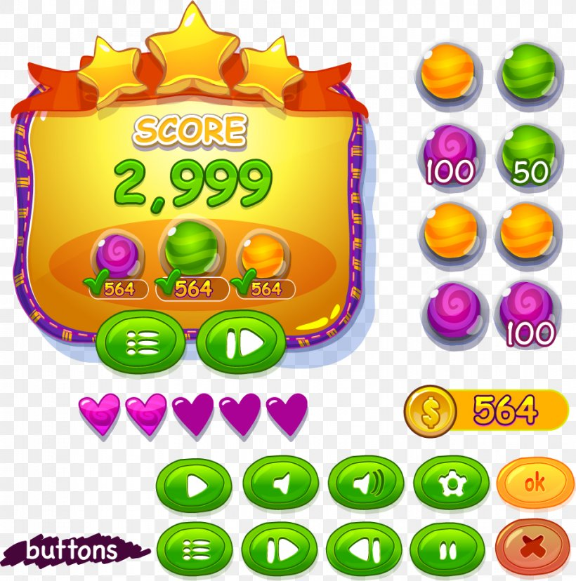 User Interface Design Game, PNG, 956x966px, User Interface, Button, Clip Art, Coin, Confectionery Download Free