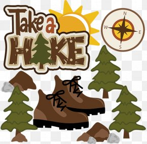 Hiker Cliparts Transparent - Hiking Boot Camping Clip Art PNG