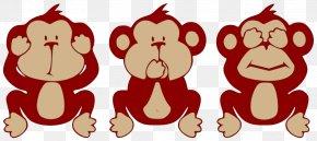 Cute Monkey Graphics - The Evil Monkey Three Wise Monkeys Clip Art PNG