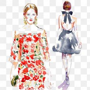 Watercolor Woman - Fashion Illustration Watercolor Painting Drawing Illustration PNG