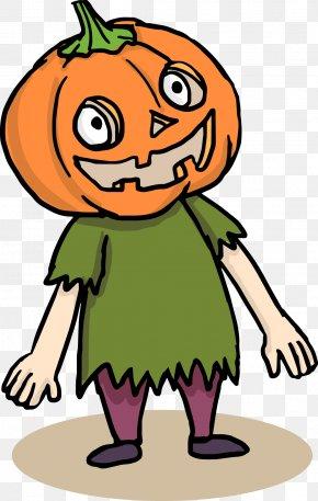 Funny Cartoon Halloween Pumpkin Man - New Hampshire Pumpkin Festival Cartoon Halloween Clip Art PNG