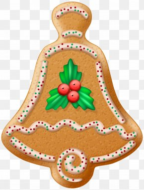 Christmas Cookie Bell Transparent Clip Art Image - Christmas Cookie Gingerbread Clip Art PNG