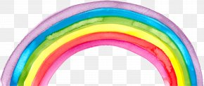 Hand-painted Watercolor Rainbow - Rainbow Watercolor Painting PNG