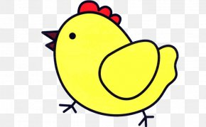 Painted Yellow Chick - Chicken Drawing Painting Stroke Rooster PNG