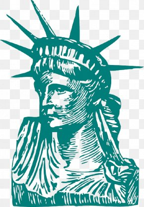 Vieille Statue - Statue Of Liberty National Monument Illustration Vector Graphics Image Drawing PNG