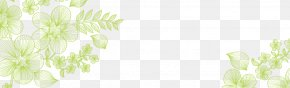 Hand Painted Green Flowers - Window Flora Interior Design Services Sunlight PNG