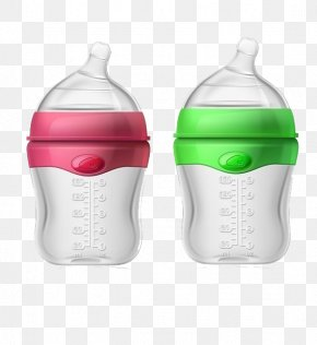 Cute Little Baby Bottles - Baby Bottle Infant Plastic Bottle PNG