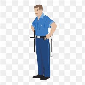 Flat Police - Profession Cartoon Royalty-free Illustration PNG