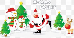 Cartoon Christmas Vector Elements PNG