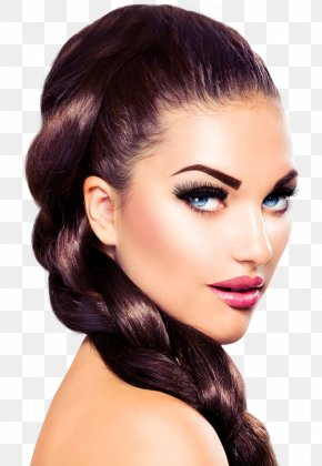 Long-haired - Cosmetics Permanent Makeup Make-up Artist Model Fashion PNG