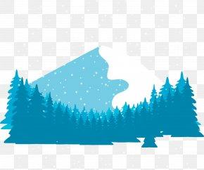Vector Winter Forest - Snow Euclidean Vector Winter Vecteur PNG