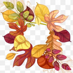 Hand Painted Autumn Leaves Vector - Autumn Leaf Euclidean Vector PNG