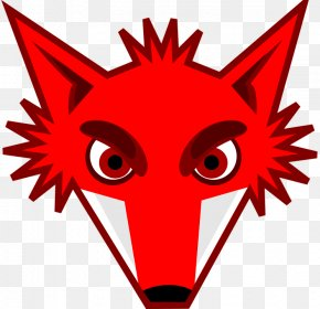 Fox Eyes Transparent Image - Red Fox Clip Art PNG