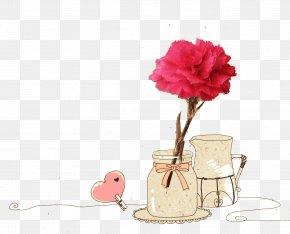 Vase - Carnation Mothers Day Dianthus Chinensis Hemerocallis Fulva PNG