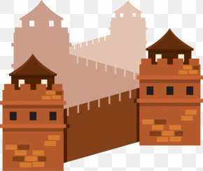 Flat Cartoon Great Wall Of China - Great Wall Of China Temple Of Heaven Internet PNG