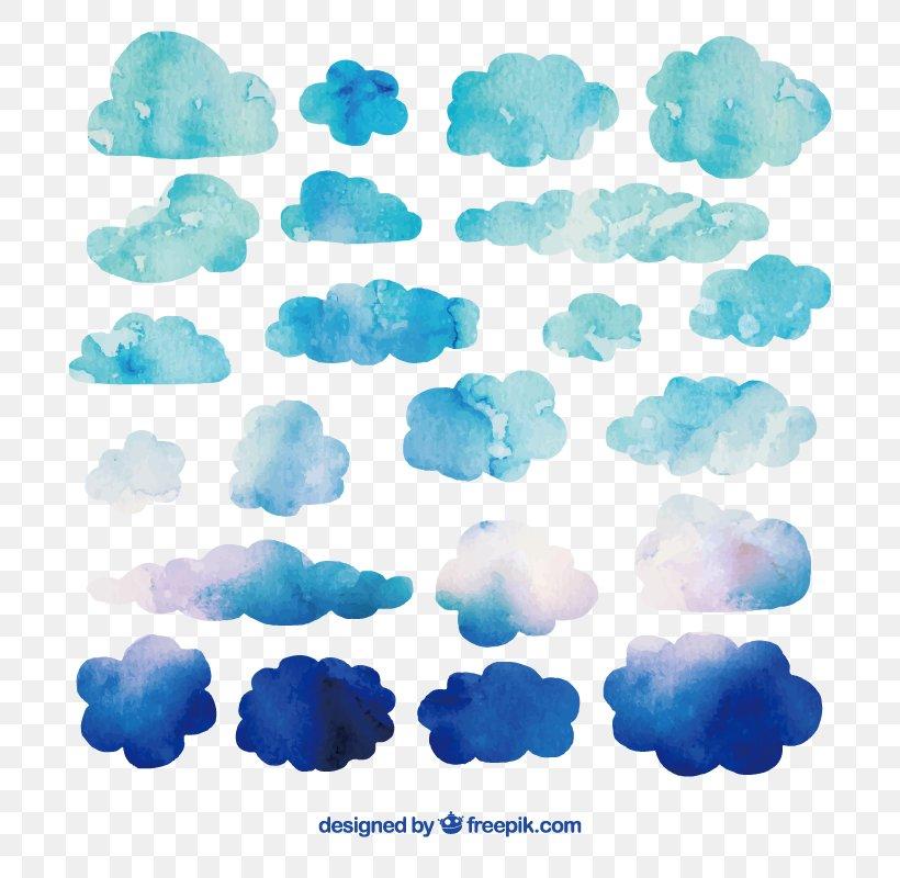 Watercolor Painting Cloud Clip Art, PNG, 800x800px, Watercolor Painting, Aqua, Art, Azure, Blue Download Free
