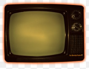 High Resolution Television Tv Icon - Television Set Yellow Rectangle PNG
