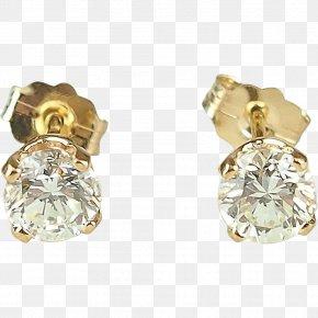 Diamond Stud Earrings - Earring Jewellery Gold Diamond Estate Jewelry PNG