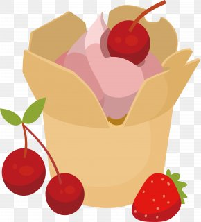 Cherry Strawberry Cake - Juice Strawberry Cream Cake Chocolate Cake Swiss Roll Cherry PNG