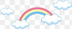 Rainbow Vector Element - Cloud Euclidean Vector Rainbow PNG