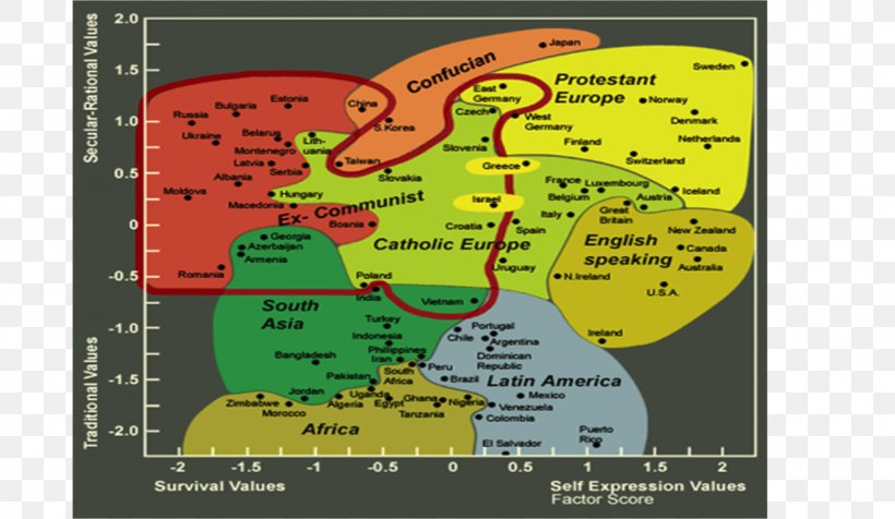 Culture Inglehart Welzel Cultural Map Of The World World Values
