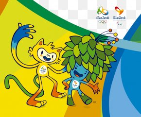 Rio Olympic Mascots Background - 2016 Summer Olympics 2016 Summer Paralympics Rio De Janeiro Mascot Vinicius And Tom PNG