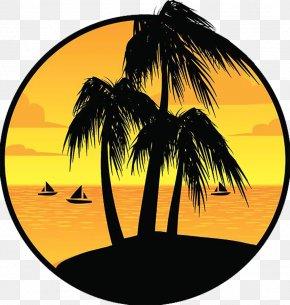 Sunset Under The Island - Sunset Island PNG