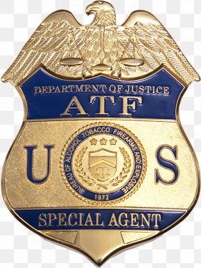 United States - Bureau Of Alcohol, Tobacco, Firearms And Explosives United States Department Of Justice Badge PNG