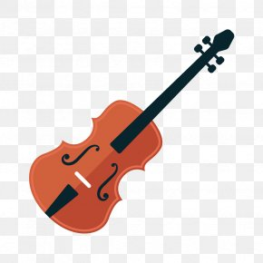 Cartoon Musical Instrument Violin - Erhu Violin Musical Instrument Pipa PNG