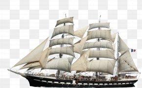 With Ship - Barque Brigantine Ship Watercraft PNG