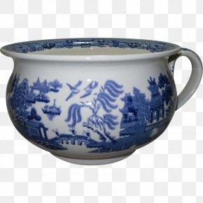 Polish Pottery Shoppe - Blue And White Pottery Chamber Pot Ceramic Porcelain PNG
