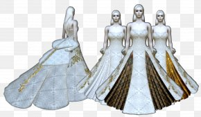 Ball Gown Design - Gown Costume Design Haute Couture Figurine PNG