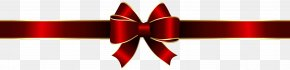 Red Bow Deco Clip Art Image - Red Graphics Font Design PNG