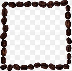 Black Rectangular Coffee Beans - Coffee Bean Picture Frame Designer PNG