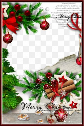 Christmas Background Frame - Christmas Card New Year PNG