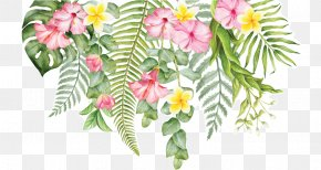 Tropical Flower - Cut Flowers Wall Decal Floral Design PNG