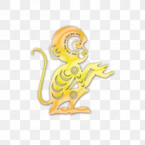 Golden Monkey - Monkey Adhesive Tape Illustration PNG