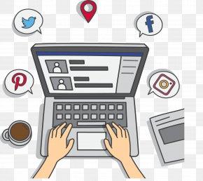 Hand-painted Online Social Media - Social Media Communicatiemiddel Social Network Blog Mass Media PNG