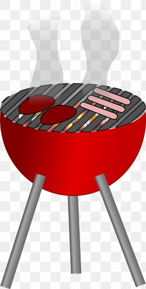 Red Barbecue Pits - Barbecue Chicken Hamburger Grilling Clip Art PNG