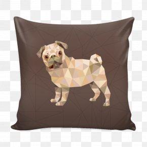 Throw Pillows - Pug T-shirt Throw Pillows Textile PNG